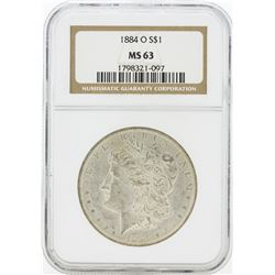 1884-O MS63 NGC Morgan Silver Dollar