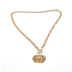 Chanel Gold 31 Rue Cambon Coin Medallion Long Necklace