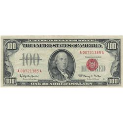 1966 $100 Red Seal Legal Tender Bank Note