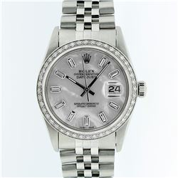 Rolex Stainless Steel MOP Diamond DateJust Men's Watch