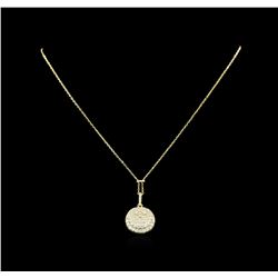 1.25 ctw Diamond Necklace - 14KT Yellow Gold