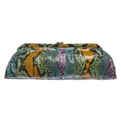 MCM Multicolor Snakeskin Amaranda Long Clutch Handbag