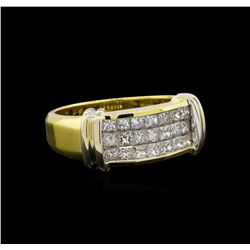 0.80 ctw Diamond Ring - 18KT Yellow Gold