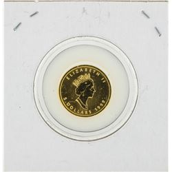 1999 Canada Maple 1/10 oz Fine 9999 Gold Coin