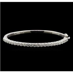 14KT White Gold 3.00 ctw Diamond Bangle Bracelet