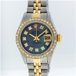 Rolex Two-Tone Tahitian MOP VVS Diamond Dial DateJust Ladies Watch