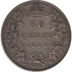 Canada 1871 Silver 50 Cents