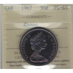 Canada 1967 Silver 50 Cents ICCS PL65 Cameo