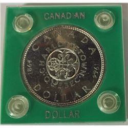 Canada 1964 Silver Dollar - In Plastic Case