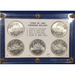 Canada 1965 Silver Dollar Type Set