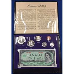 Canada 1967 Canadian Wildlife Coin Set with Banknote