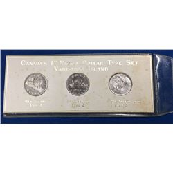 Canada 1968 1st Nickel Dollar Type Set