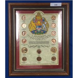 Canada Penny Collection in Presentation Frame
