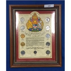 Canada 5 Cent Collection in Presentation Frame