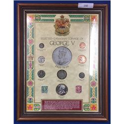 Canada George V Coin Collection in Presentation Frame