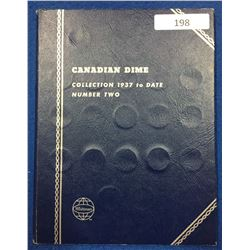 Canada Dime Collection 1937 - 1996 Whitman Folder