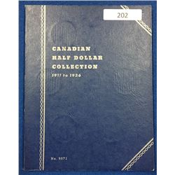 Canada Half Dollar Collection 1911 - 1936 - Whitman Folder