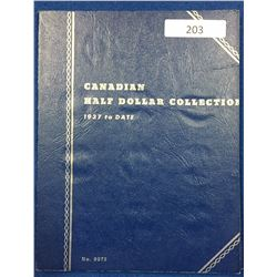 Canada Half Dollar Collection 1937 - 1960 - Whitman Folder