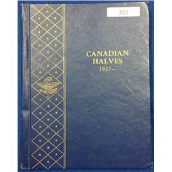Canada Halves Collection 1937 - 1977 - Whitman Folder