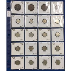 Canada Newfoundland Collection of 40 Different Coins