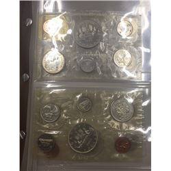 Canada 1961 to 1980 Proof Like Coin Sets in Book. Includes Silver.