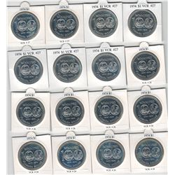 Canada 1971 to 1974 Lot of 54 Silver Dollars! Includes Minor Varieties