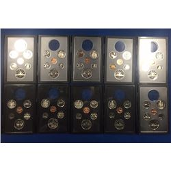 Canada 1974 to 1983 Coin Sets without Silver Dollars