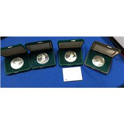 Canada 1988 Calgary Olympic 4 Coins in Clamshell Cases
