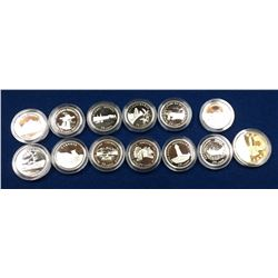 Canada 1992 Provinces and Loonie Silver Coin Set in Capsule Only