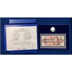 Canada 1996 $2 PL Coin & $ Replacement Banknote Set