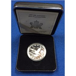 Canada 1997 $1 10th Anniversary of the one dollar Loon Proof Silver Dollar Coin
