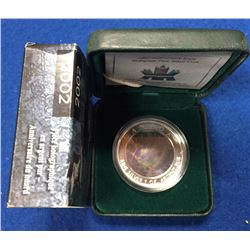 Canada 2002 $5 Anniversary Loon Hologram Silver Coin