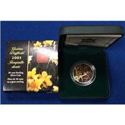 Canada 2003 50 Cents Golden Daffodil Silver Coin