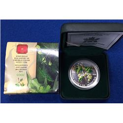 Canada 2003 $5 Green Summer Coloured 1 oz Silver Maple Leaf Coin