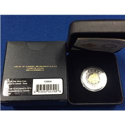 Canada 2014 $5 Flowers in Canada Rose Silver Coin