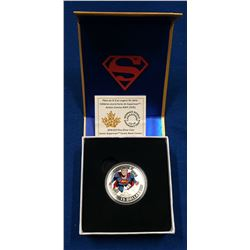 Canada 2014 $15 Iconic Superman Comic Book Covers Action Comics #419 from 1972 Coloured Silver Coin