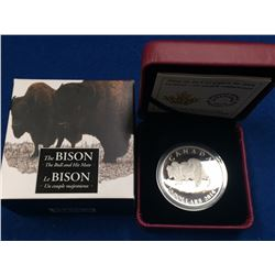 Canada 2014 $20 The Bull and His Mate Bison Silver Coin