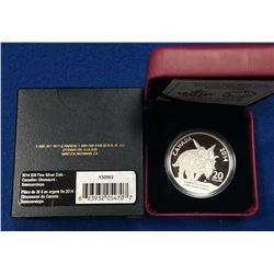 Canada 2014 $20 Canadian Dinosaurs: Xenoceratops Foremostensis Silver Coin