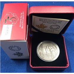 Canada 2014 $20 75th Anniversary of the First Royal Visit Silver Coin