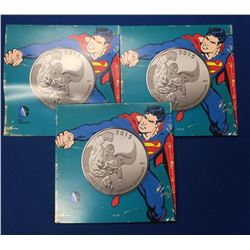 Canada 2015 $20 Superman Silver Lot of 3 Coins
