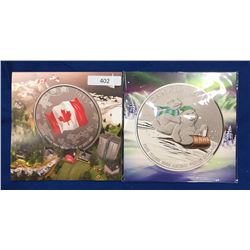 Canada Lot of 2 $25 for $25s. Winter Fun & Flag.