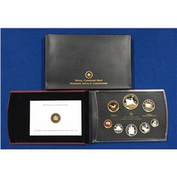Canada 2010 100th Anniversary of Canadian Navy Gold Plated Silver Double Dollar Set