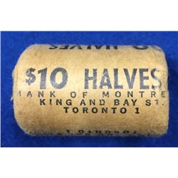 Canada 1964 Original Silver 50 Cent Roll