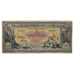 Canada Canadian Bank of Commerce 1917 $20 Banknote
