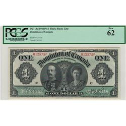 Dominion of Canada 1911P $1 Banknote PCGS UNC62