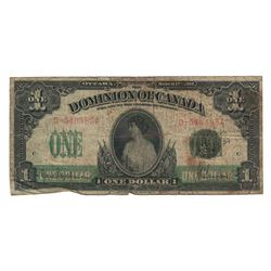Dominion of Canada 1917 $1 Banknote