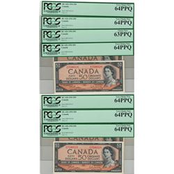Canada 1954 $50 Banknote 7 in Sequence PCGS UNC64 PPQ