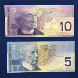 Canada Journey Series $5 & $10 Banknote