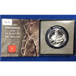 Canada 2003 $1 100th Anniversary of the Cobalt Discovery BU Silver Dollar Coin