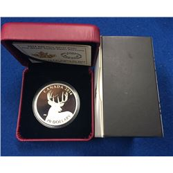 Canada 2014 $20 White-Tailed Deer Portrait Silver Coin